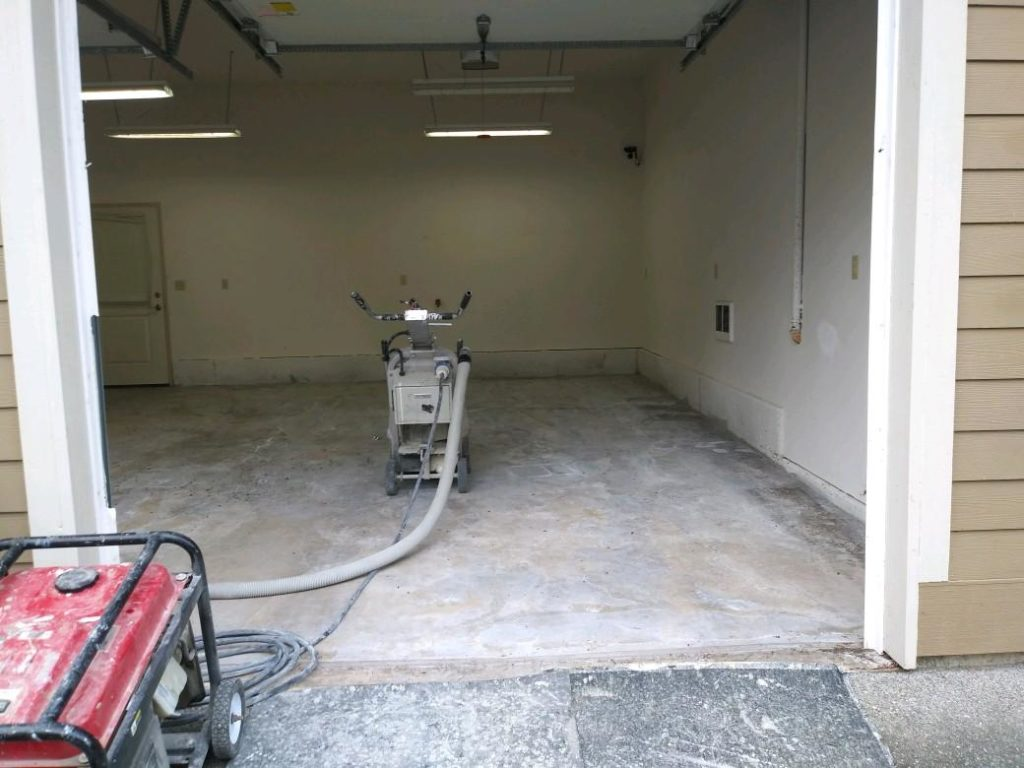 Clean garage, ready for our coatings.