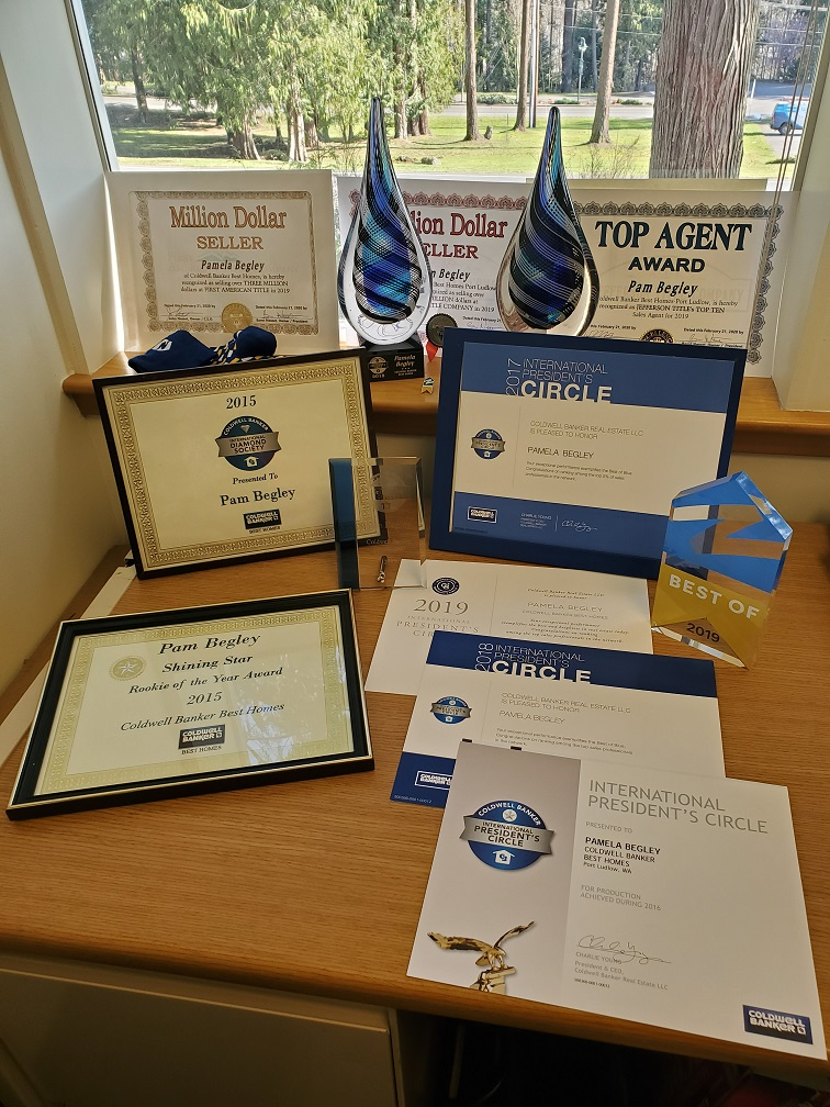 Pam Begley Realtor awards and trophies