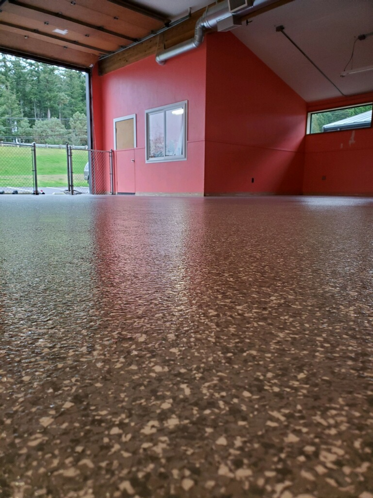 Doggie Daycare Chip Floor Concrete Coating