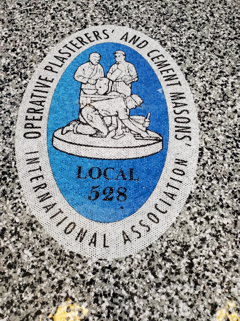 Cement Masons Local 528 Logo Inlay